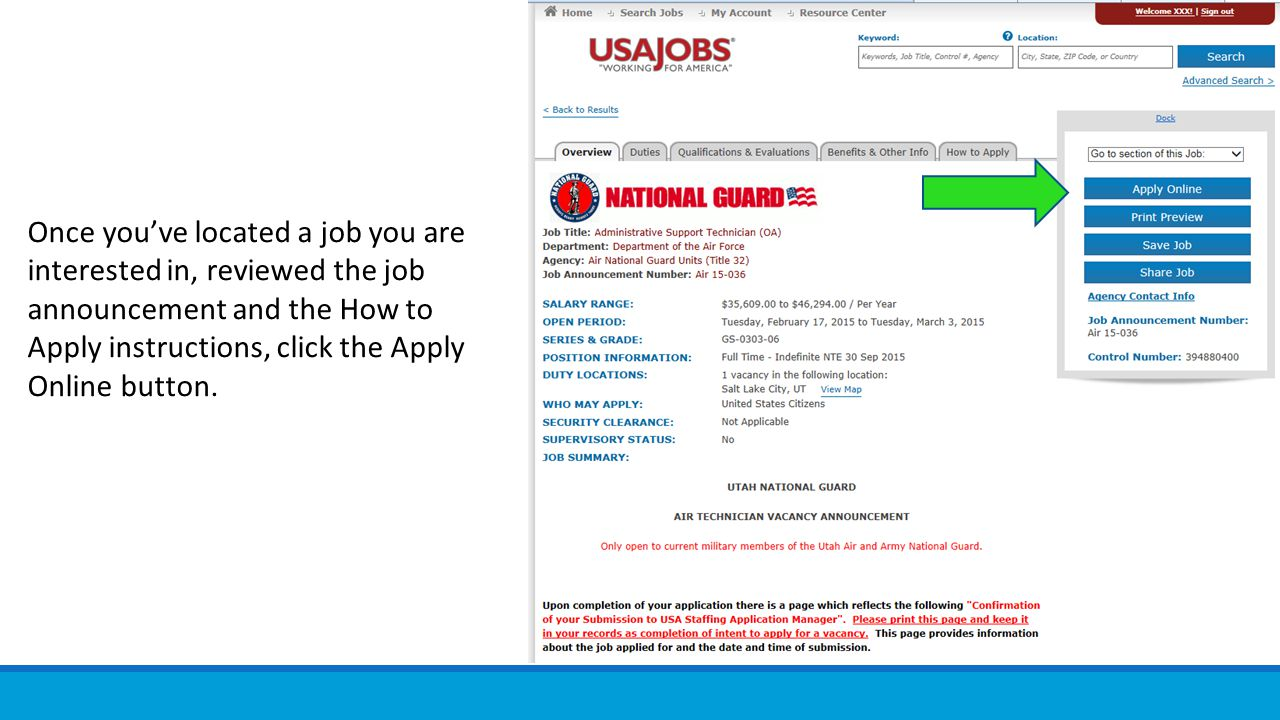 USAJobs.gov job opening applications and apply online