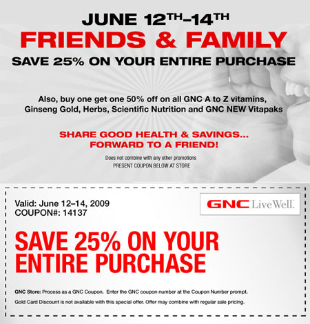 gnc coupons and discount offers