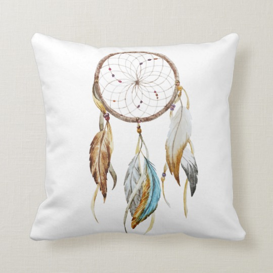 Beautiful Dream Catcher Throw Pillows