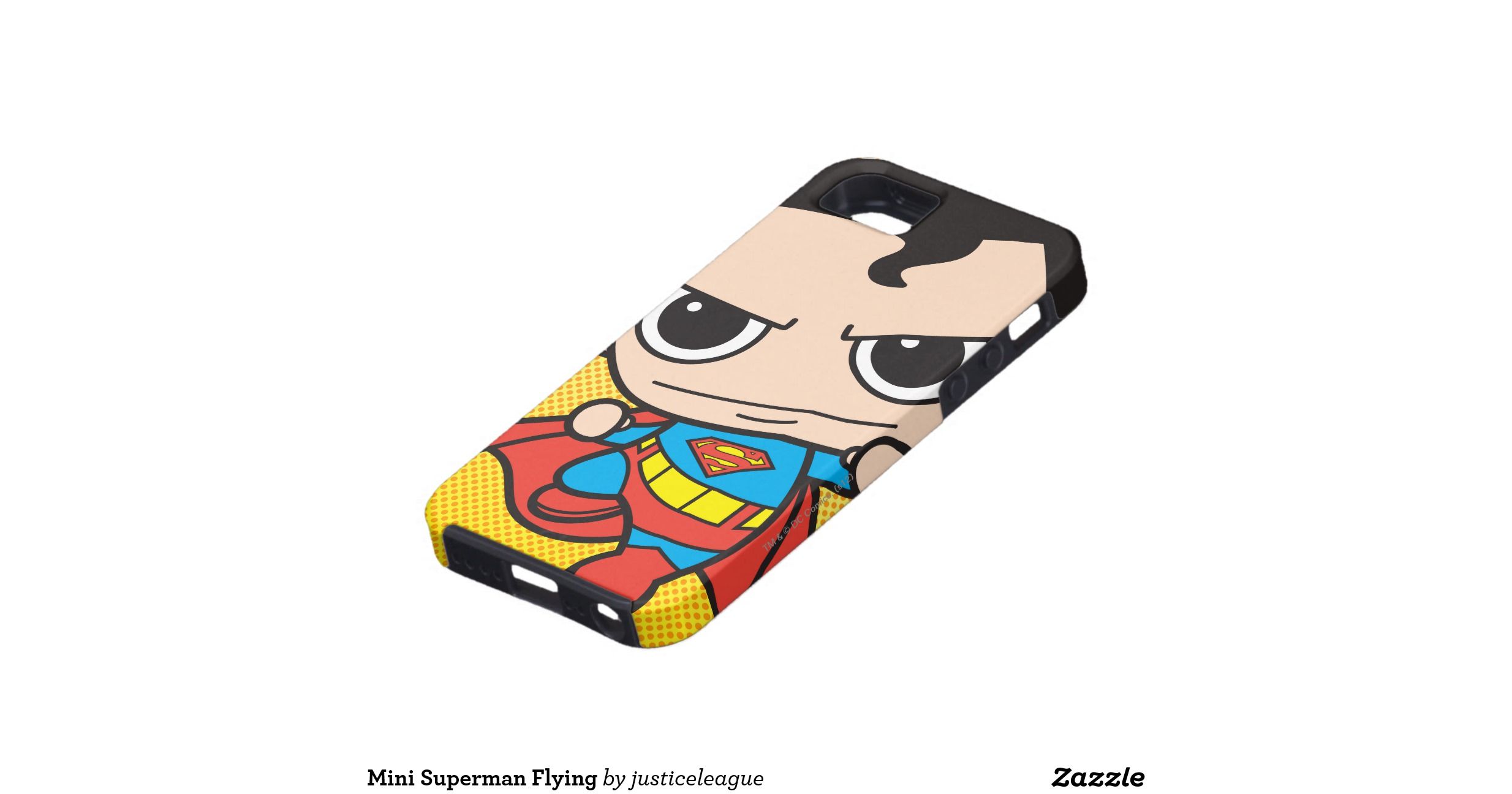 Chibi Superman Flying iPhone Case