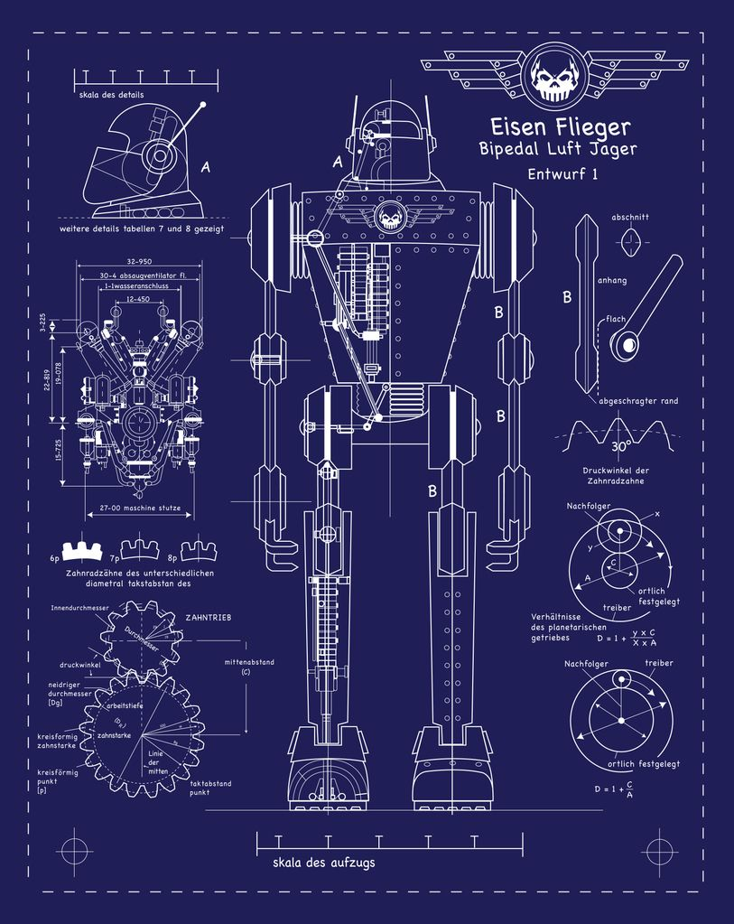 Blue Science Posters