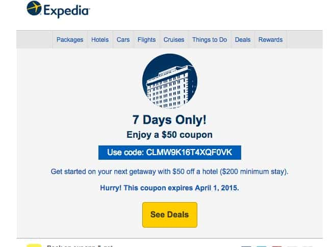 Expedia Coupons and Coupon Codes