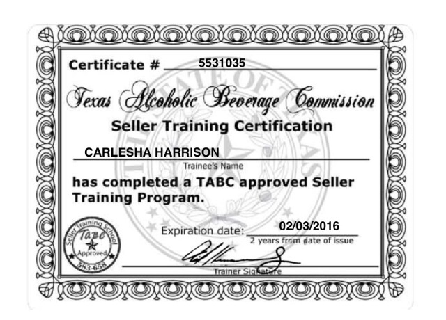 Get TABC Certified Online for Texas
