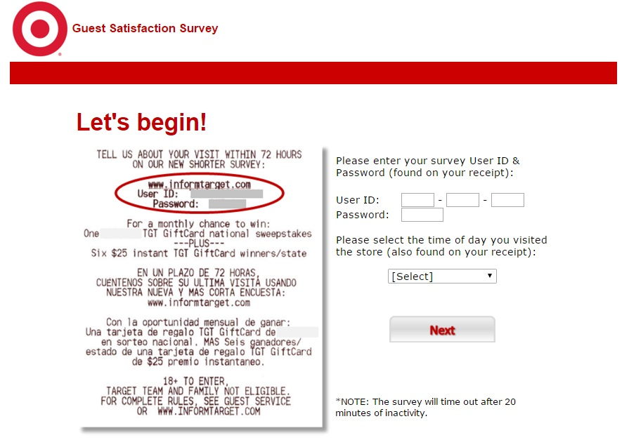 Target Survey at www.TargetSurvey.com Review