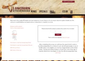 longhorn steakhouse guest survey review