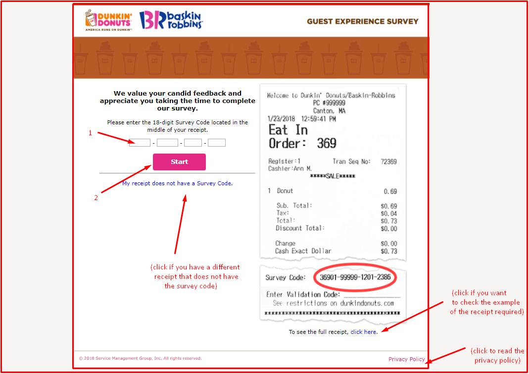 telldunkin guest survey information
