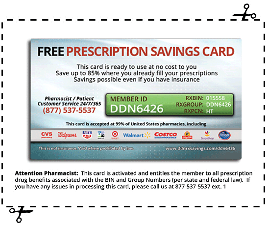 Prescription Savings Card