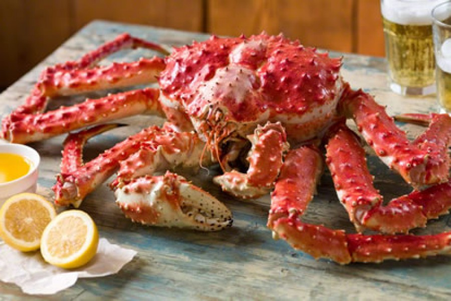alaskan red king crabs