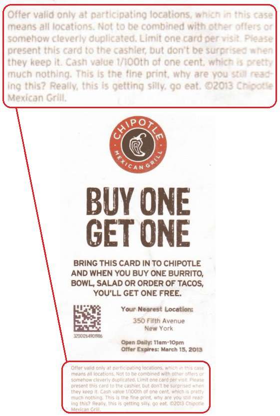 chipotle coupons and discounts