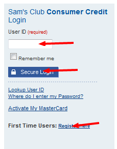 Samsclub Com Credit Login >> Www Samsclubcredit Com Sams Club Credit Card Login