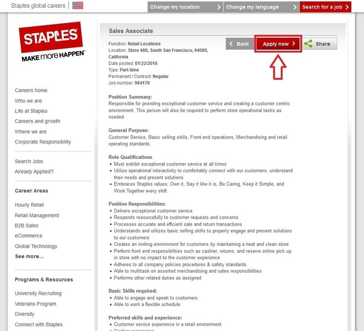 Staples Jobs and Employment Opportunities