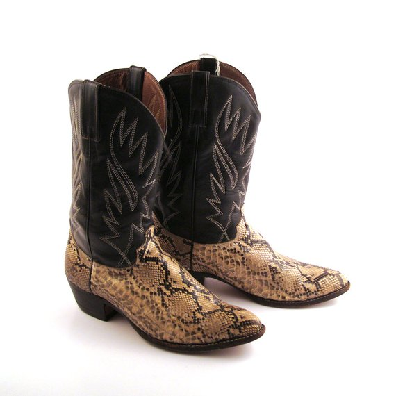 snakeskin cowboy boots picture