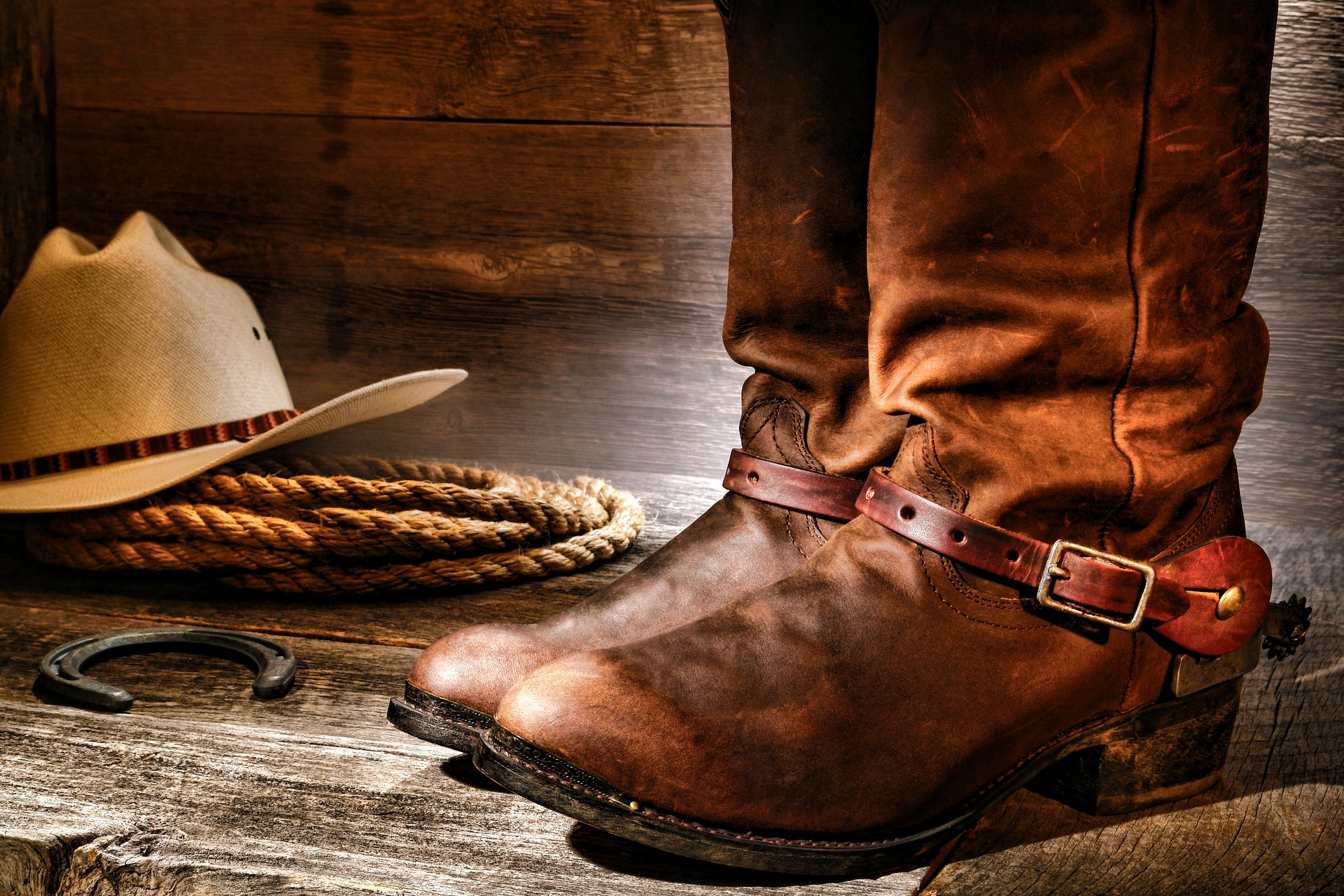 cowboy hat and boots picture